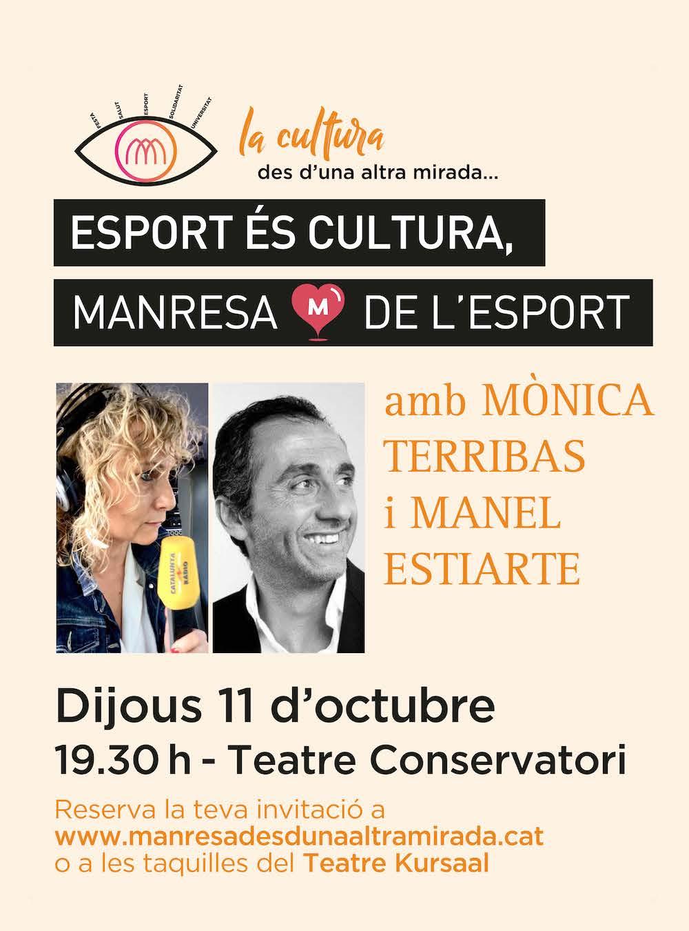 Manel Estiarte i Mònica Terribas conversaran sobre esport en el marc de
