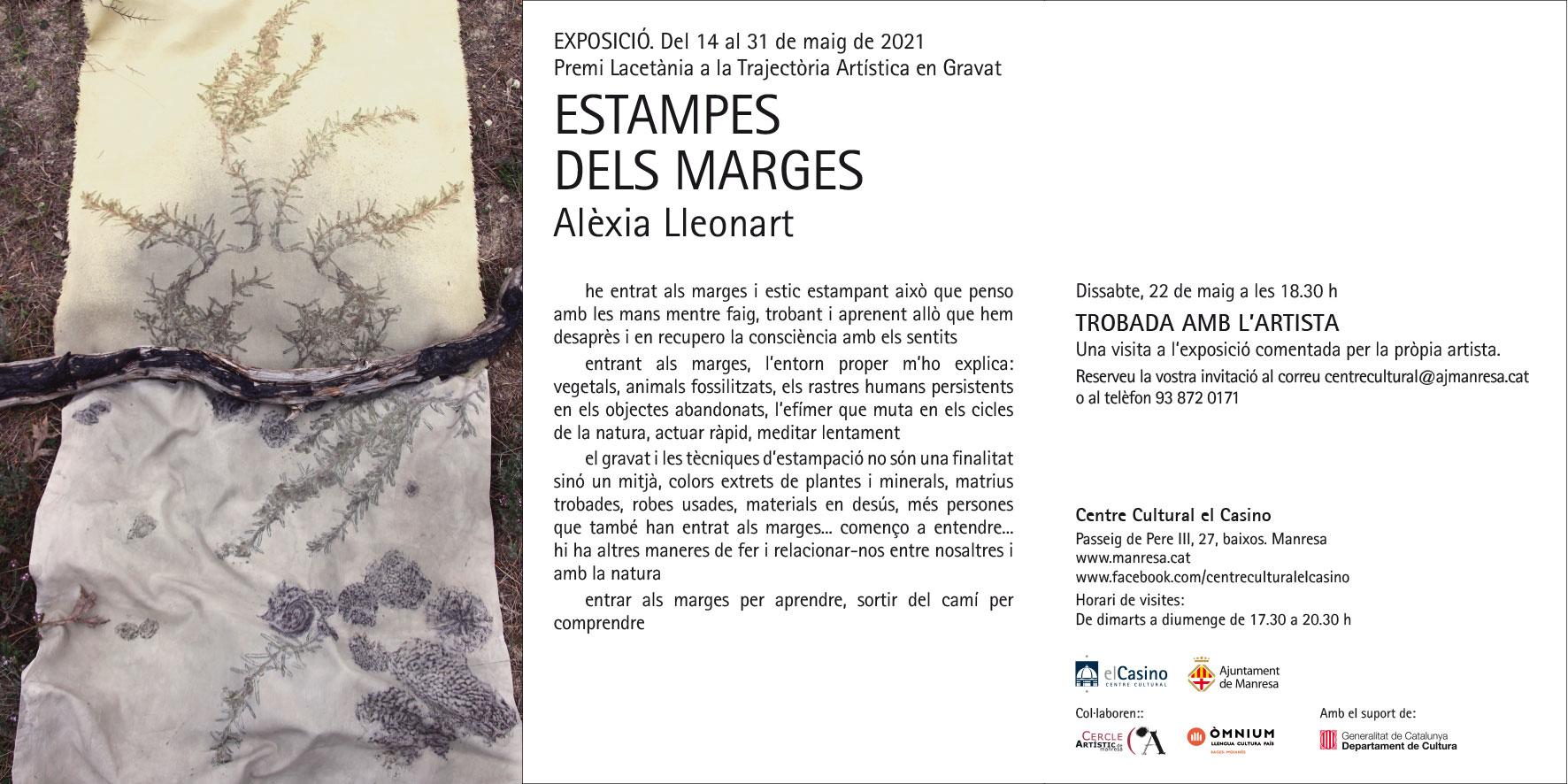 El Casino estrena aquest divendres l'exposició 'Estampes dels marges', de l'artista Alèxia Lleonart
