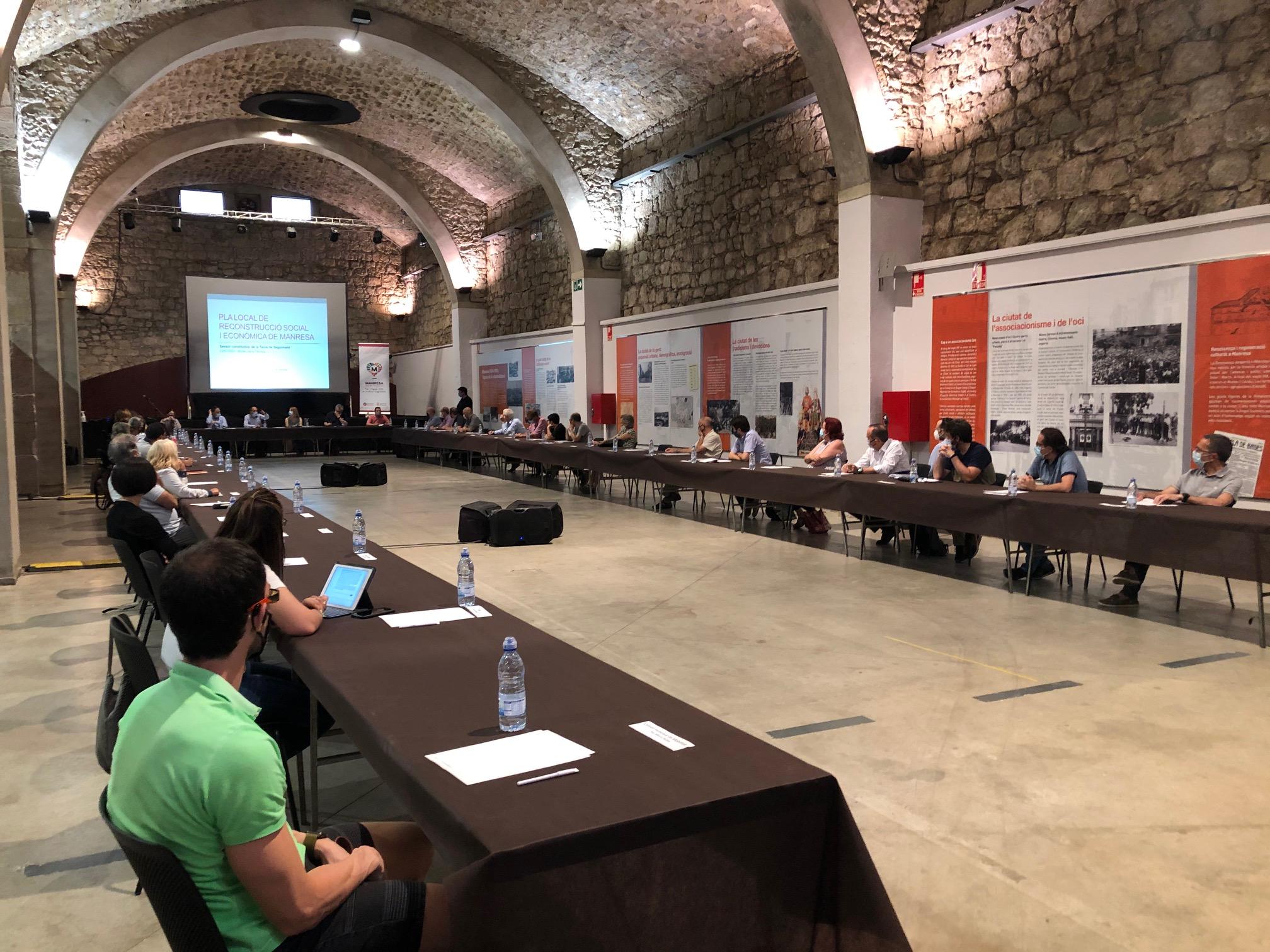 Constituïda la Taula de Seguiment del Pla Local de Reconstrucció Social i Econòmica, amb la participació de més de 50 representants del teixit socioeconòmic de Manresa