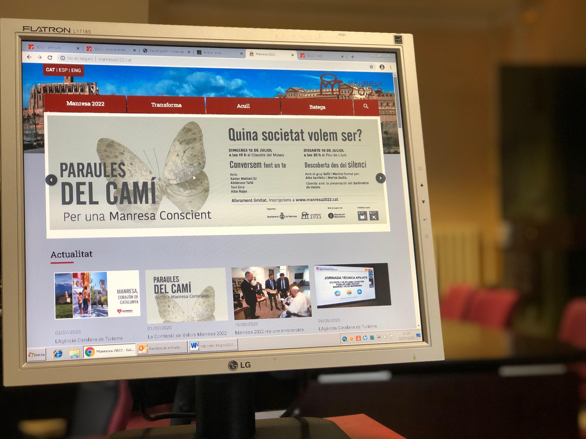 La nova web de Manresa 2022 ja es troba en funcionament en tres idiomes i incorpora un bloc amb funció de sala de premsa