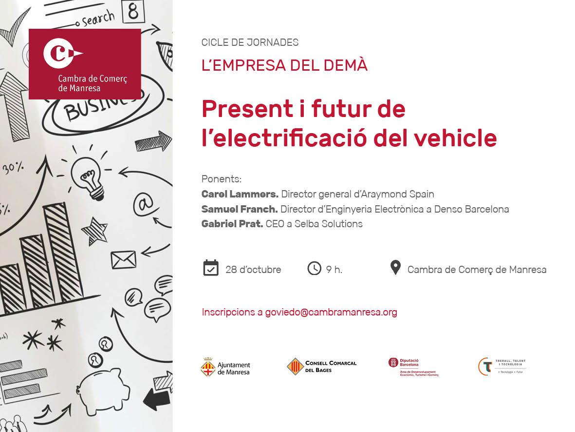 El present i futur de l'electrificació del vehicle a la comarca serà el tema central de la propera jornada