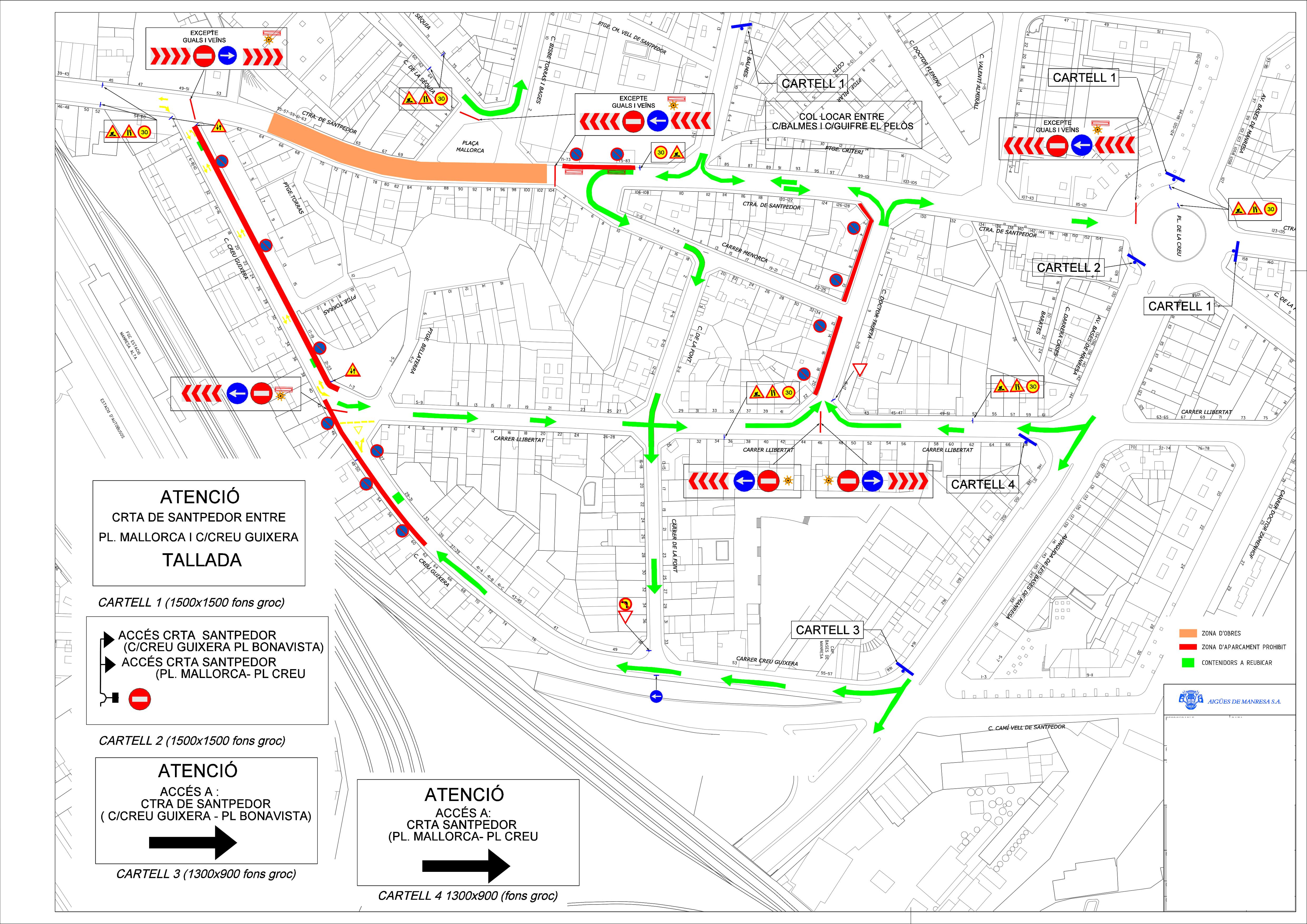 Plànol afectacions carretera Santpedor