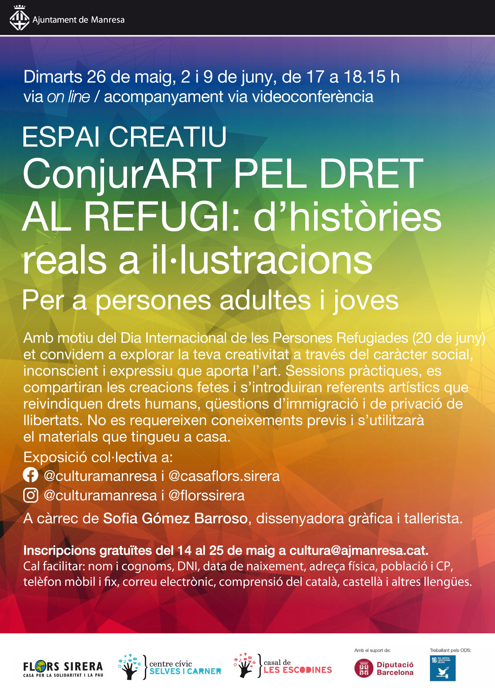 L'Ajuntament organitza un segon Espai Creatiu via 'on line' sobre il·lustració i dret al refugi