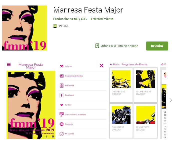 Ja està disponible l'APP Manresa Festa Major